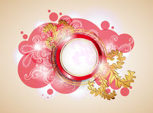 Banner with swirls Royalty Free Stock Image