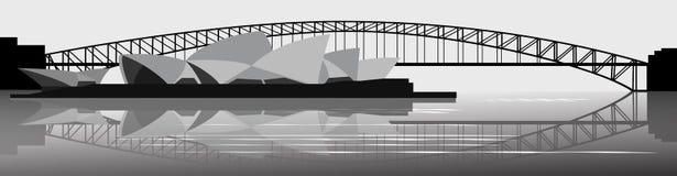 Banner Sydney skyline Royalty Free Stock Photography