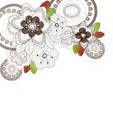banner tła kwiaty form różowego spiralę trochę Zdjęcia Stock