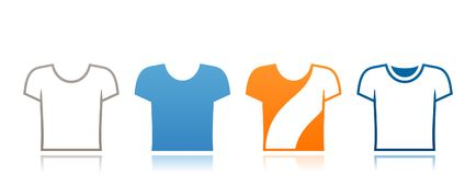Banner with t-shirts icons Stock Photos