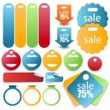 Banner,tag,label,ribbon,badge,frame or header set Royalty Free Stock Photo
