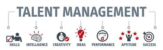 Banner talent management concept vector illustration stock illustration
