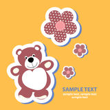Banner with a teddy bear Royalty Free Stock Images