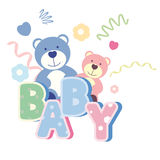 banner with teddy bear Royalty Free Stock Photo