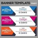 Banner Template for business designe. Beautiful banner for web site design and layout Stock Photo