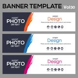 Banner Template for business designe. Beautiful banner for web site design and layout Royalty Free Stock Image