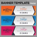 Banner Template for business designe. Beautiful banner for web site design and layout Stock Image