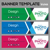 Banner Template for business designe. Beautiful banner for web site design and layout Stock Photography