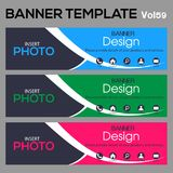 Banner Template for business designe. Beautiful banner for web site design and layout Royalty Free Stock Images