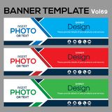 Banner Template for business designe. Beautiful banner for web site design and layout Royalty Free Stock Photo