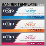 Banner Template for business designe. Vector abstract geometric design banner Web Template banner background and banner Collection for Business Designs Stock Image