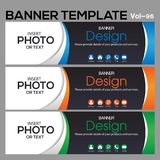 Banner Template for business designe. Vector abstract geometric design banner Web Template banner background and banner Collection for Business Designs royalty free illustration