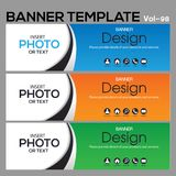 Banner Template for business designe Stock Photography