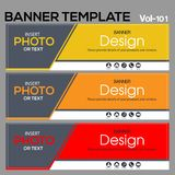 Banner Template for business designe. Vector abstract geometric design banner Web Template banner background and banner Collection for Business Designs Royalty Free Stock Image