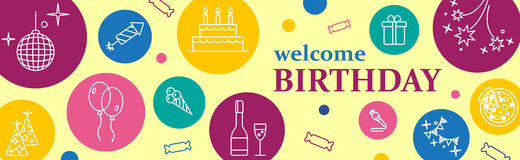 Banner or Template design for Musical Party celebration. Stock Photos