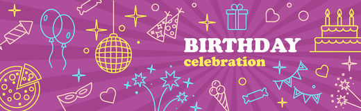 Banner or Template design for Musical Party celebration. Royalty Free Stock Photography