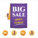 Banner template discounts big sale,. Banner template discounts on a white background. big sale, only today, 5 day. isolated. Sale and special offer vector illustration