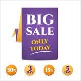 Banner template discounts big sale, Stock Photos