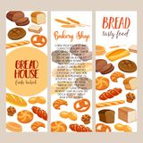 Bread products Stock Images