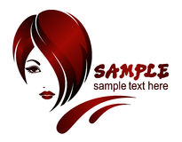 Banner template  hair styles, etc. Stock Images