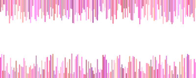 Banner template - horizontal vector graphic from vertical stripes in pink tones on white background. Banner template design - horizontal vector graphic from Royalty Free Stock Image