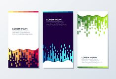 Awesome Banner Template ready to use stock illustration