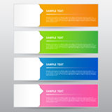 Banner Template, Vector Work. The Banner Template, Vector Work Stock Image