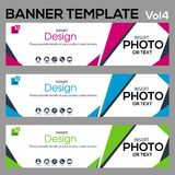 Banner Template-Vol4. Beautiful banner for web site design and layout Stock Photography