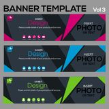Banner Template-Vol3. Banner for web site design and layout Royalty Free Stock Photo