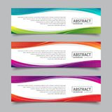 Banner template with wave abstract background illustration. For business promotion designs royalty free illustration