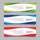 Banner template with wave abstract background illustration. Suitable for business promotion designs stock illustration