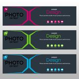 Banner Template for website. Banner for Business and Website Stock Photo