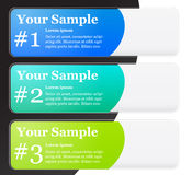 Banner Templates. Corporate, Medical, eco style banner Templates Royalty Free Stock Photos