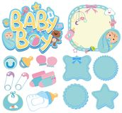 Banner templates for baby boy. Illustration Stock Photography