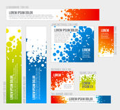 Banner templates collection with abstract background Stock Photos