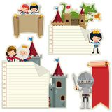 Banner templates with fairytale characters. Illustration Stock Photography