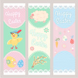 Banner Templates. Happy Easter. Stock Photography