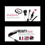Banner templates for makeup artist Stock Photos