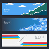 Banner 3templates. Banner to website or background webpage Royalty Free Stock Photography