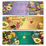 Banner templates vector collection. Tea party. Stock Images