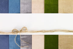 Banner on textile background Royalty Free Stock Photography