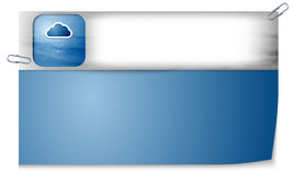 Banner with texture and cloud and rain Royalty Free Stock Photos