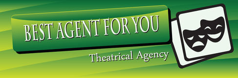 Banner Theatrical Agency Stock Photos