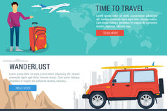 Banner - time to travel Royalty Free Stock Images