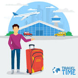 Banner - time to travel Royalty Free Stock Photos
