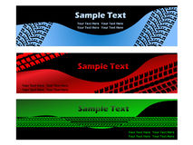Banner with tire treads. Colored banner with tire treads Royalty Free Stock Photography