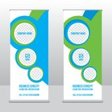 Roll-up banner template, stand design for exhibitions, presentations, seminars, modern business concept. Banner to place advertising information, photo, text Stock Photo