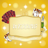 Banner to represent a wedding,eps 10 Stock Photography