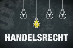 Banner trade law in german royalty free stock image