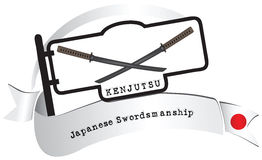 Banner traditional school Kenjutsu Royalty Free Stock Photos